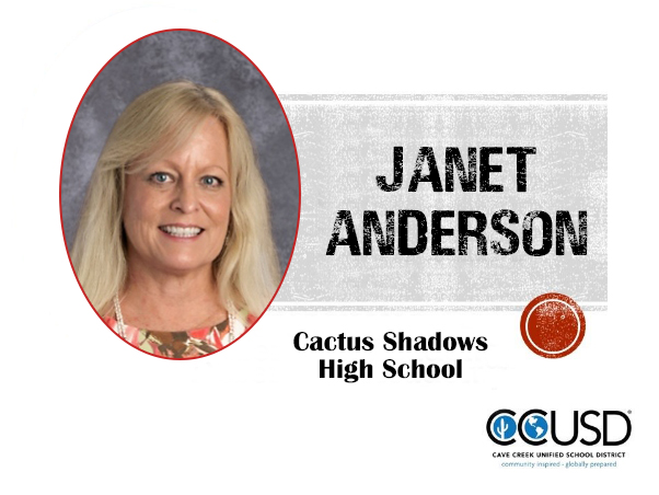 Janet Anderson, 2020 Teacher of the Year