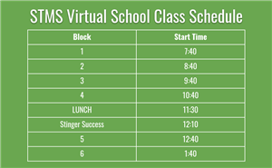 STMS Virtual Learning Schedule